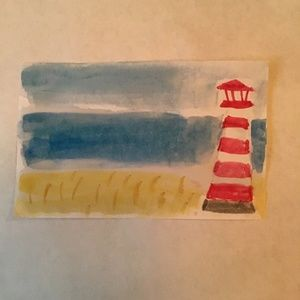 Watercolor Lighthouse Print